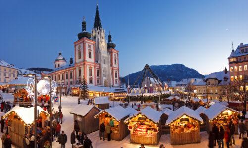 """Advent v Mariazell letos bez tradičních trhů a koncertů. """"Bude to jako kdysi bez shonu a více kontemplativní,"""" utěšují pořadatelé"""