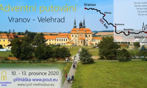 Adventní pěší putování z Vranova na Velehrad po Cyrilometodějské stezce