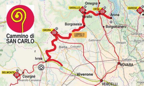Camino má i sv. Karel Boromejský. Vede z jeho rodné Arony do Viverone. 200 km severním Piemontem