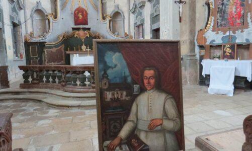 Spolek usiluje o obnovu poutního místa ve Skokách. Ztracený portrét zakladatele kostela získal v aukci