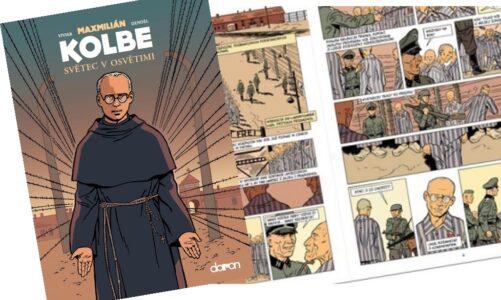 Světec z Osvětimi kněz Maxmilián Kolbe je hrdinou komiksu