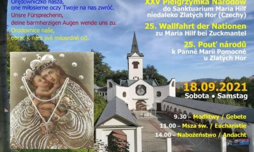 25. pouť národů k Panně Marii Pomocné přivítá poutníky z Česka, Polska a Německa